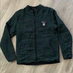 Reversible RVCA zippered sweater
